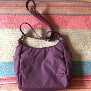 Pacsafe Purple Crossbody Citysafe bag traveling